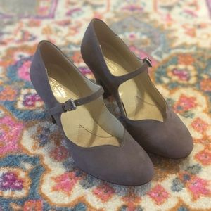 Naturalizer N5 Comfort Mary Jane Heels Gray size 6